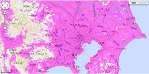 関東のWiMAX2+エリア