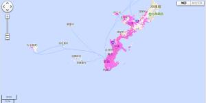 沖縄のWiMAX2+エリア