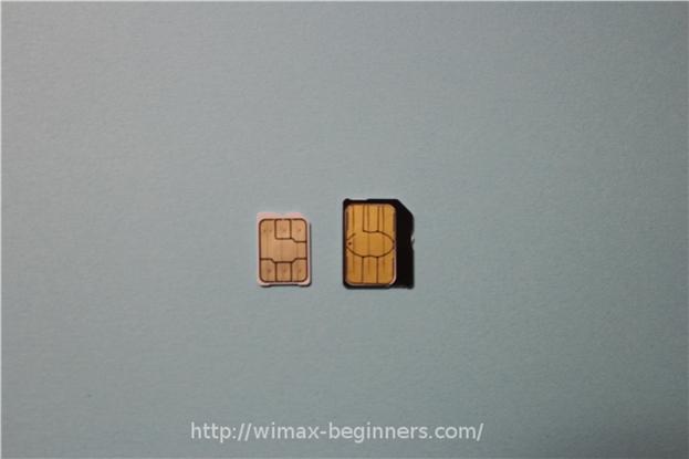 WX04のnano SIMカード